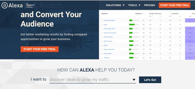 網站流量排名-Alexa